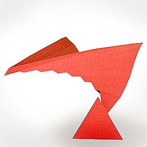 鹿島建設社内報の連載「紙の彫刻」より、「かさねる」
