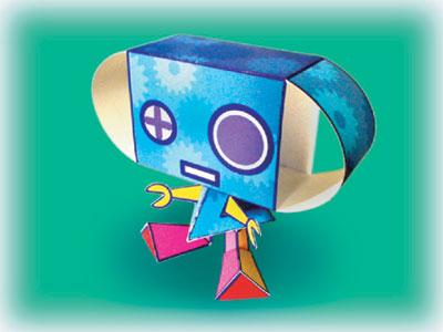 誕生日お祝いロボット