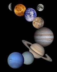 太陽系(NASA提供写真)
