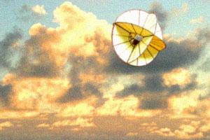 球体凧の紙工作