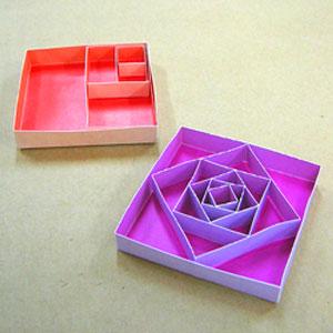バラの紙工作2種