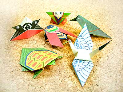 折り紙卓上カレンダー完成6点