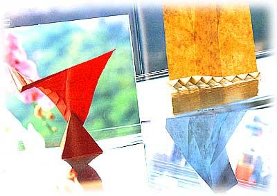 鹿島建設社内報の連載「紙の彫刻」