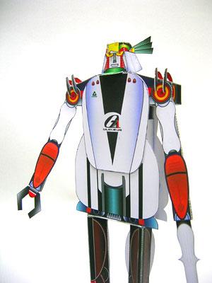 3段変形ロボットの紙工作